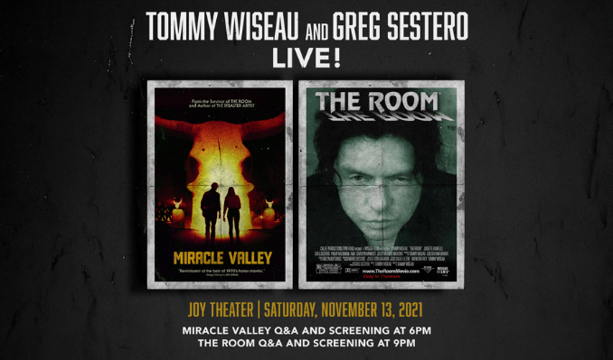 Miracle Valley Premiere Screening w/ Tommy Wiseau and Greg Sestero LIVE!  tickets at Joy Theater in New Orleans