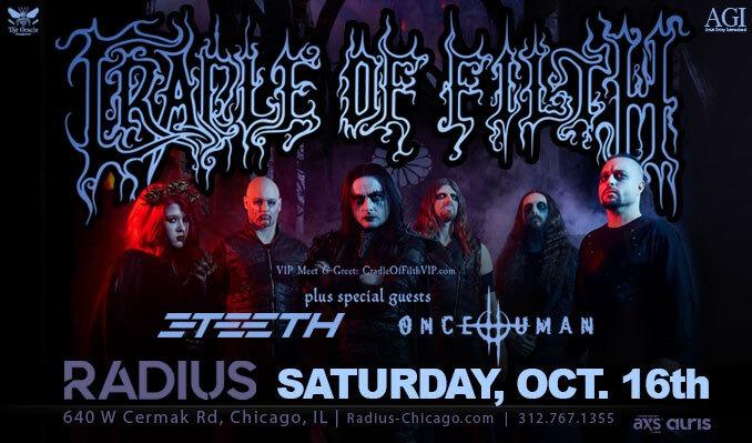 Cradle of Filth tickets at Radius in Chicago