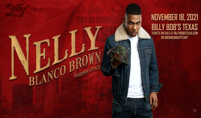 Nelly with Blanco Brown & Harper Grace tickets at Billy Bob's Texas in Fort Worth