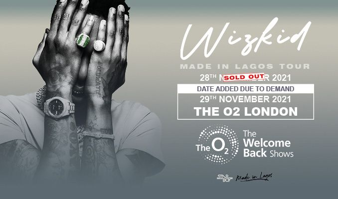 Wizkid: Made in Lagos Tour tickets at The O2 in London