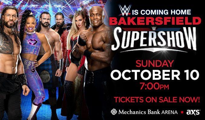 WWE SUPERSHOW tickets at Mechanics Bank Arena in Bakersfield