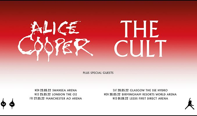 Alice Cooper + The Cult tickets at The O2 in London