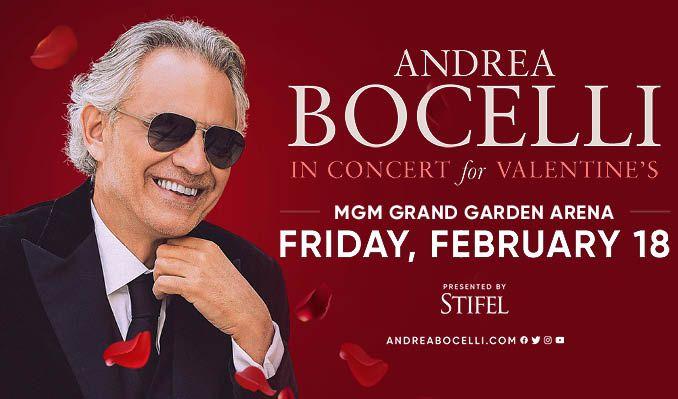 Andrea Bocelli tickets at MGM Grand Garden Arena in Las Vegas