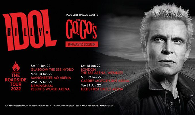 Billy Idol & The Go-Go's tickets at first direct arena in Leeds