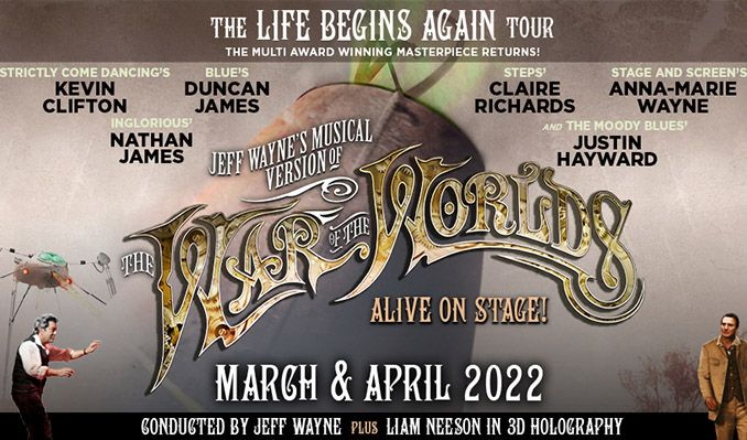 Jeff Wayne's Musical Version of The War of The Worlds - RESCHEDULED tickets at Brighton Centre in Brighton