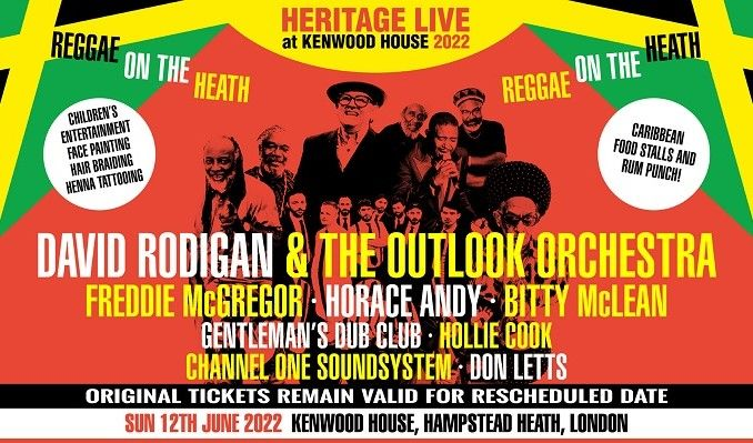 Reggae On The Heath: David Rodigan & The Outlook Orchestra - RESCHEDULED tickets at Kenwood House in London