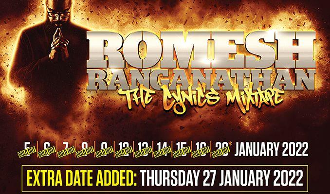 Romesh Ranganathan tickets at Eventim Apollo in London
