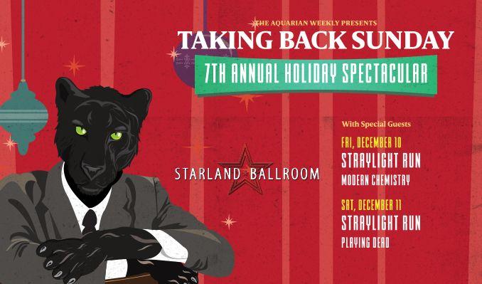 Taking Back Sunday tickets at Starland Ballroom in Sayreville