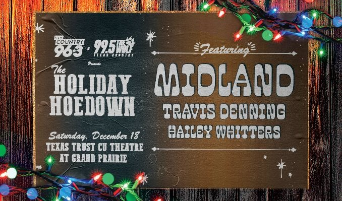 The Holiday Hoedown featuring  Midland tickets at Texas Trust CU Theatre in Grand Prairie