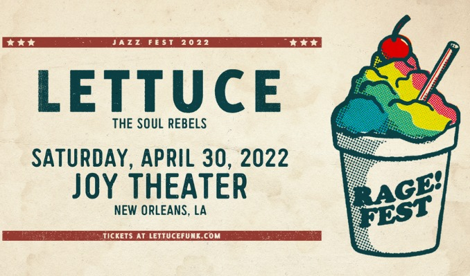 Lettuce & The Soul Rebels with special guest GZA tickets at Joy Theater in New Orleans