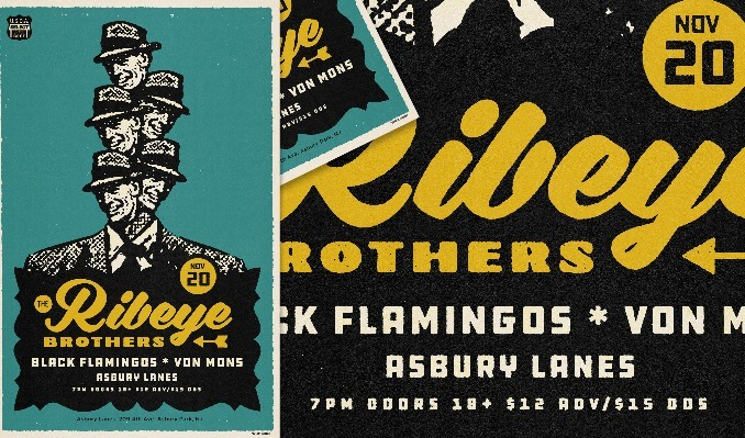 The Ribeye Brothers tickets at Asbury Lanes in Asbury Park