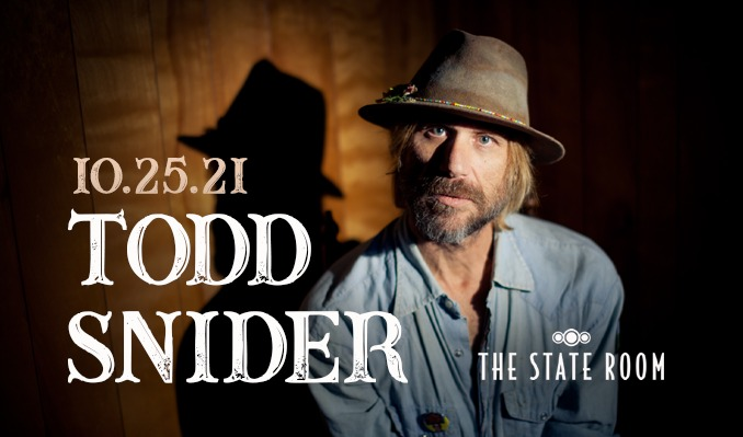 Todd Snider - 10/25/21 tickets at The State Room in Salt Lake City