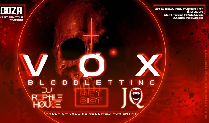 Vox Bloodletting tickets at Barboza in Seattle