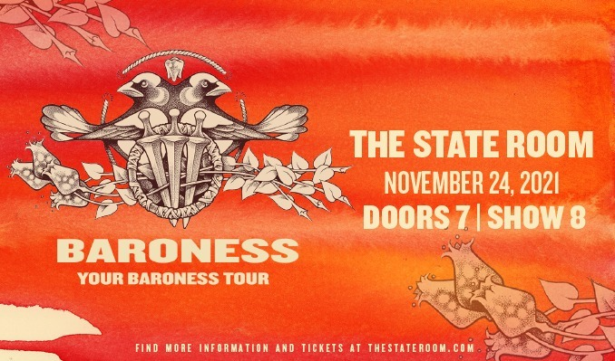 Baroness tickets at The State Room in Salt Lake City