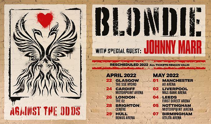 Blondie - RESCHEDULED tickets at first direct arena in Leeds