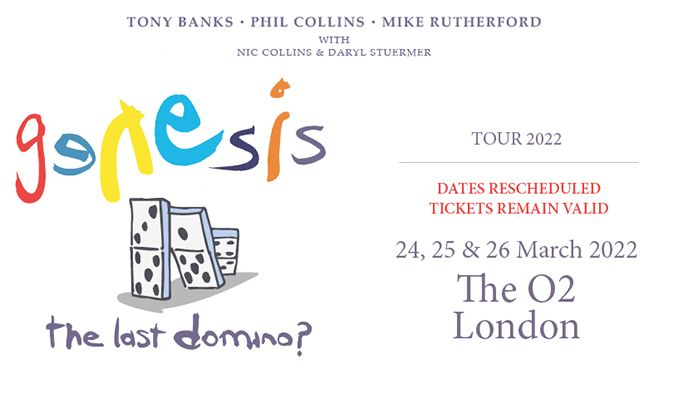 Genesis - RESCHEDULED tickets at The O2 in London