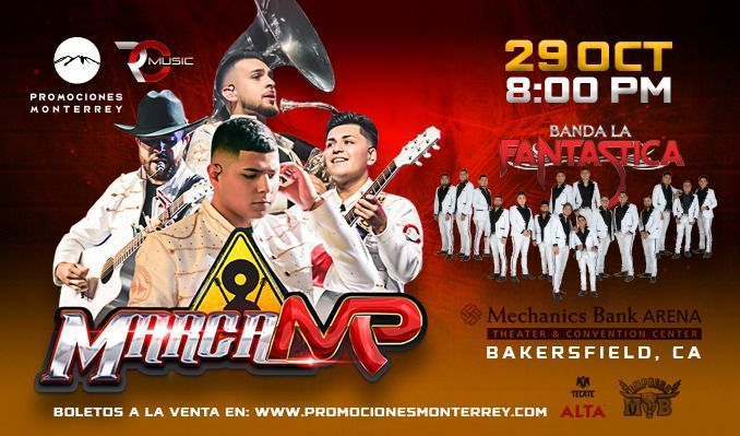 Marca MP tickets at Mechanics Bank Arena in Bakersfield