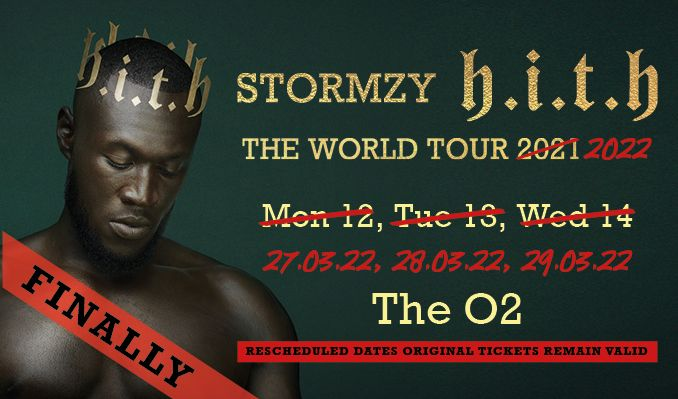 Stormzy - RESCHEDULED tickets at The O2 in London