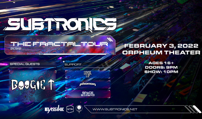 Subtronics with special guest Boogie T tickets at Orpheum Theater in New Orleans
