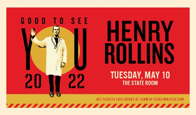 Henry Rollins tickets at The State Room in Salt Lake City