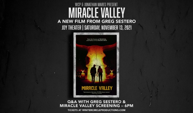 Miracle Valley Premiere Screening w/ Greg Sestero LIVE!  tickets at Joy Theater in New Orleans