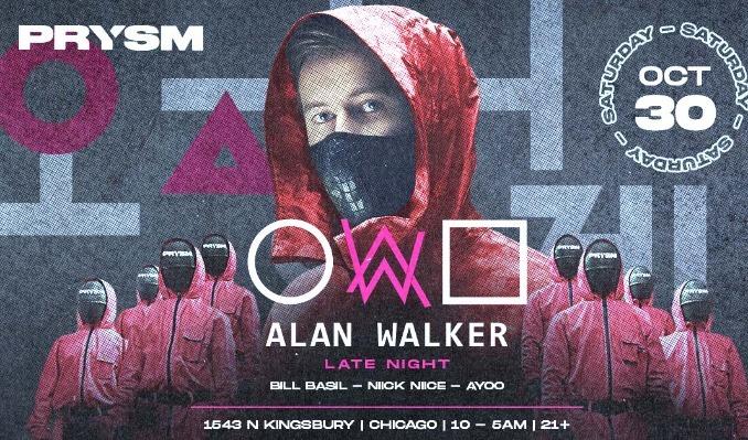 Alan Walker tickets at PRYSM Nightclub in Chicago